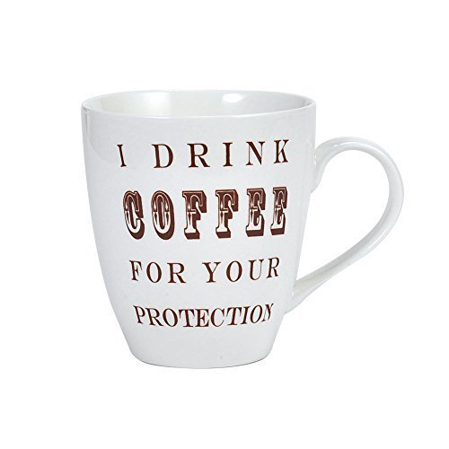 Pfaltzgraff Everyday I Drink Coffee For Your Protection Cup...