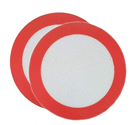 Premium Non Stick Reusable Round Silicone Baking Mat Set Of 2 Diameter 8.5 inch Perfect For 9 inch Round Cake Pan Liner Baking Sheets