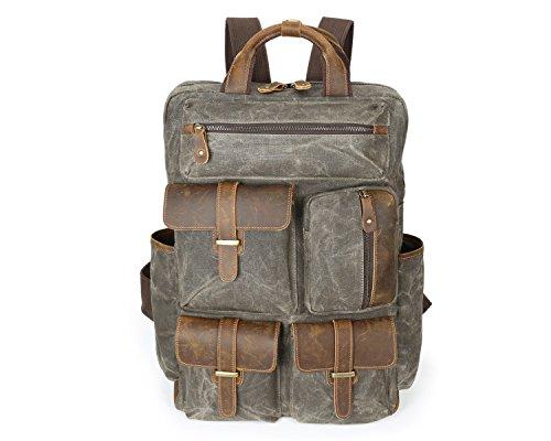 Oil Men's Large Shoulder Bag Wax Outdoor Bronze Canvas Retro Travel 77gOanqx