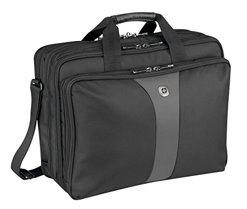 Wenger 600655 LEGACY 17' Triple-Gusset Laptop Case, Black/Grey, 19 Litres