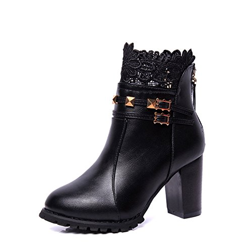 Ladies Boots With Winter Short With Thirty Thick Fashionista With Foot Match All Short Thick GTVERNH Shoes Martin Bare Tube eight Boots Martin Set Boots 45ffqO