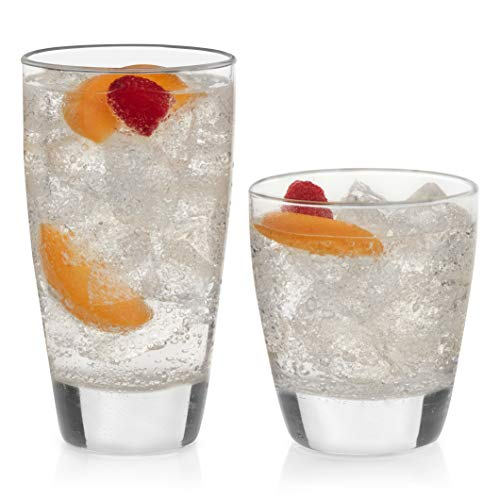 Libbey Classic 16-Piece Glass Tumbler and Rocks Set