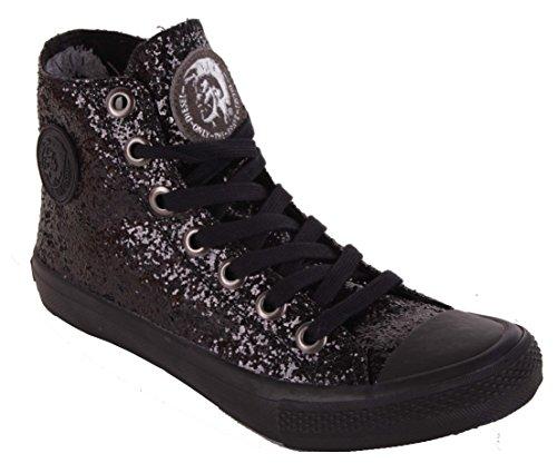 Diesel Sneaker donna stivali alti scarpe nere