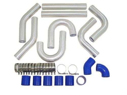 2.75 Universal Polished Aluminum Piping Kit 2J Shape