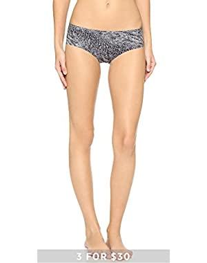 Calvin Klein Underwear Women's Invisibles Printed Panties, Stippled Skin Print, Small