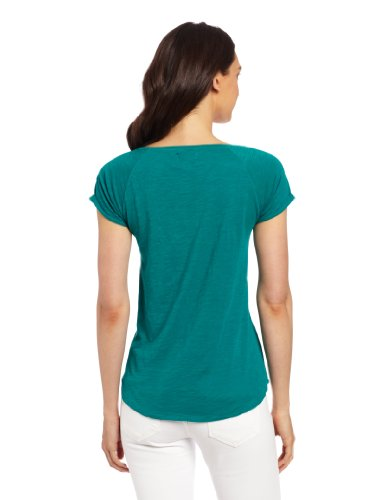 Lucky Brand Women's Amazon Lily Cut Out Tee, Parasailing, Small
