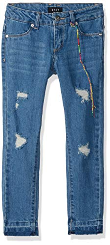 - DKNY Girls' Big Chrystie Super Skinny Ankle Jean, indy Blue 12