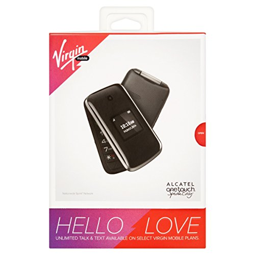 Virgin Mobile Alcatel Onetouch Speakeasy Cellphone - Black (Virgin Mobile Paylo Phones Compatible With Assurance Wireless)