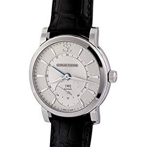 """Schwarz Etienne """"Manufacture Roma"""" ASE GMT Micro-rotor. 4-Day Power. Silver Dial"""