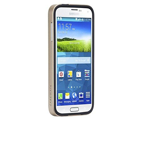 Case-Mate Wallet - Funda de piel para dinero para Samsung Galaxy S7, color negro Negro y dorado