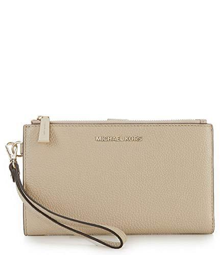 MICHAEL Michael Kors Adele Pebbled Leather Smartphone Wristlet (Oat)