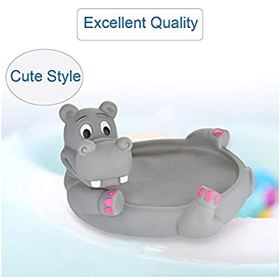 Lumumi Baby Bath Toy Rubber Toy, Squeaky Floating Toys for Boys Girls-Hippo: Toys & Games