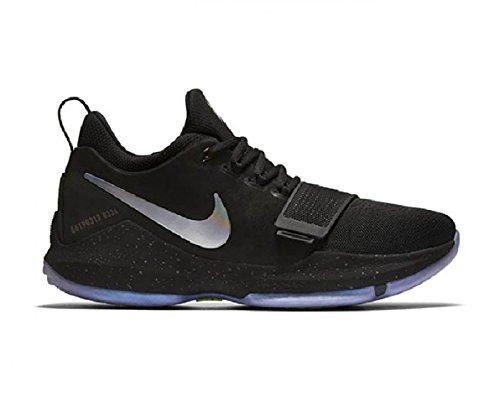 Nike Pg1 Breen Blå Menns Basketball Sko Størrelse 10 Svart / Multi-farge