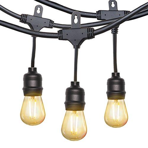 TaoTronics LED Outdoor String Lights Commercial Grade Outdoor Lights, ETL&UL588 Approved, Heavy Duty Weatherproof Strand for Outdoors, 110V, US Plug