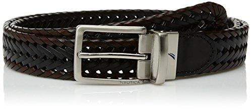 Nautica Men's Two-tone Lace Reversible Belt