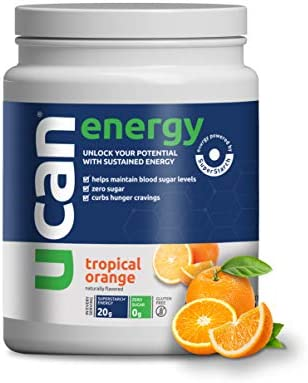 UCAN Performance Energy Powder with SuperStarch – Orange Flavor 20 Servings