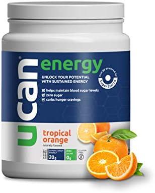UCAN Performance Energy Powder with SuperStarch – Orange Flavor 20 Servings