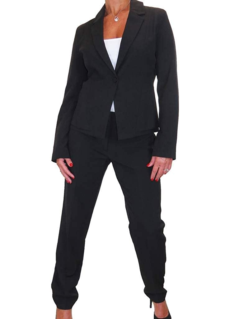Black ICE Business Work Lined Jacket Trousers Suit Washable 616