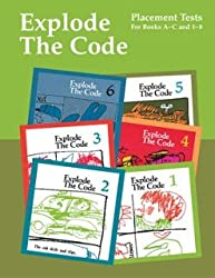 Explode the Code:  Placement Tests for Books A-C and 1-8