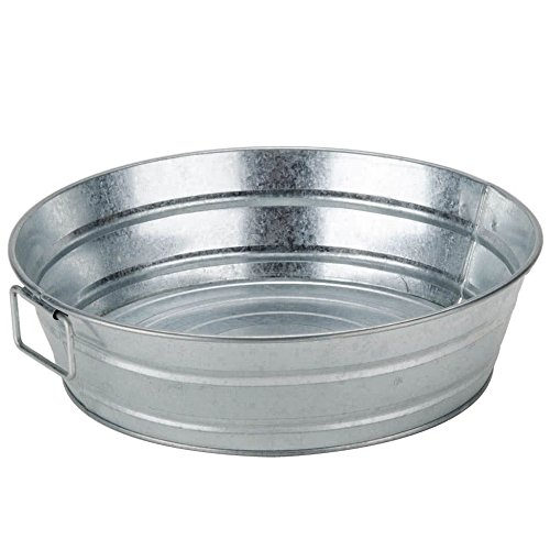 American Metalcraft MTUB12 Natural Galvanized Metal Tub, Round, 12