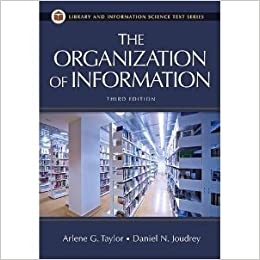 3rd Edition The Organization of Information