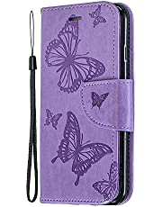Miagon for Samsung Galaxy S21 Wallet Case Cover,Butterfly Design PU Leather Flip Cover with Card Slots Magnetic Closure Stand Function Folio Protective Book Bumper