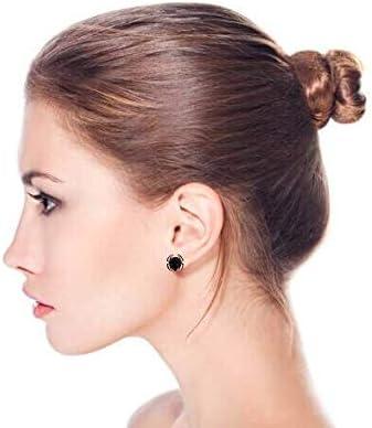 Black Spider Faux Stud Plug Ear Surgical Steel 16G Stud Earrings for Men for Teen