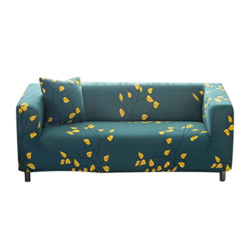 Leaf Loveseat - Sobibo Spandex Fabric Stretch Couch Cover Loveseat Slipcover for 2 Cushion, Autumn Leaves