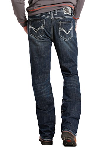 Rock & Roll Denim Flame Resistant Double Barrel Straight Dark Wash Jean, 36x32 - Panhandle Slim Rock