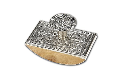 Wood & Metal Rocking Ink Blotter Pewter (Silver) N2501SI