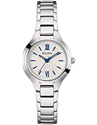 Bulova Women's Quartz Stainless Steel Casual Watch, Color:Silver-Toned (Model: 96L215)