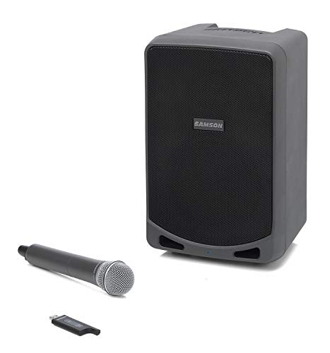 (Samson Expedition XP106W Rechargeable Portable PA System with Wireless Handheld Microphone and Bluetooth Streaming Audio)