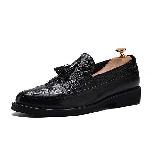 Xujw-shoes, 2018 Scarpe Stringate Basse Moda casual da uomo, punta tonda, spessa, moda, brogue, affari, oxford, scarpe (Color : Marrone, Dimensione : 38 EU) Nero