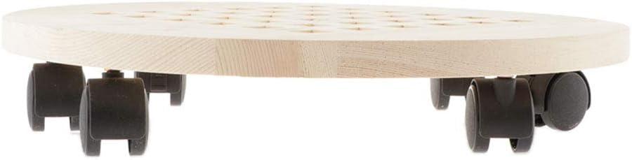 Sharplace Holz Bewegliche Pflanzenroller Pflanze Anlage Dolly mit Roller f/ür Outdoor Indoor Baum Blumentopf 25cm Pflanze Untertasse Caddy