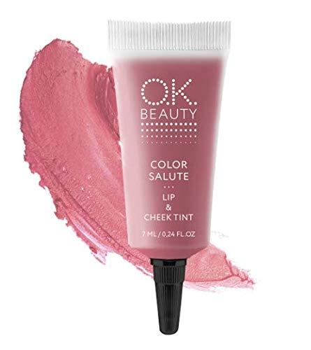 O.K. Beauty Color Salute Lip n Cheek Tint - Long Lasting Velvet Finish Lip Care & Blush in 6 trendy colors - Multipurpose Paraben Free Makeup, Cosmetics (Marrakech)