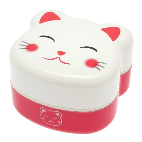 Kotobuki 2-Tier Bento Box, White Kitty