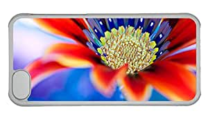 Cheap iphone 5C cases discount Red flower close up PC Transparent for Apple iPhone 5C