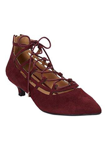 Comfortview Womens Plus Size Kylie Pumps Burgundy Dcm0M