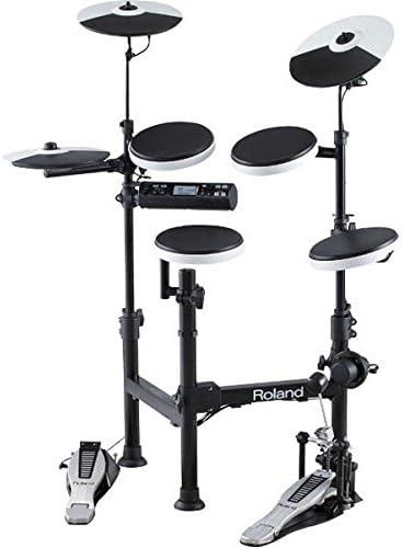 side facing roland v-drums td-4kp electronic drum set