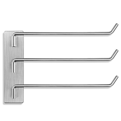CASAFE+ R17-0016 SUS304 Stainless Steel Swing Arm Towel Bars Hooks Dish Rag Holder by CASAFE+