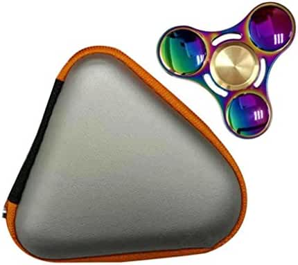 Mchoice Gift for Fidget Hand Spinner Triangle Finger Toy Focus ADHD Autism Bag Box Carry Case Packet
