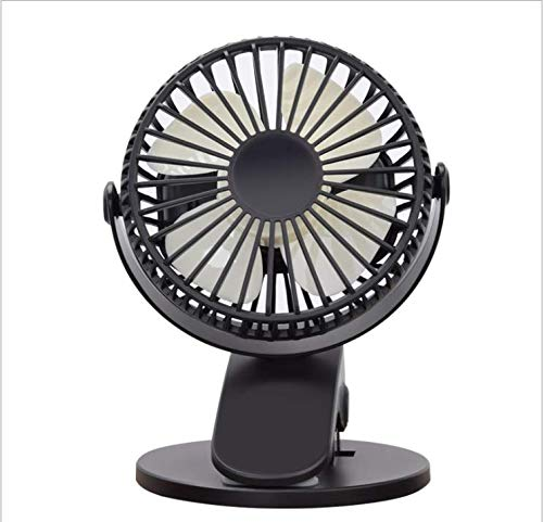 Portable Fans Mini USB Desk Clip Fan, win 2019 Newest Table Fan 20 Hours(Max Working Time) 360° Rotation 2000mah Battery 3 Speed Quiet Fan for Outdoor/Indoor Baby Car Travel Office Camping Library ()