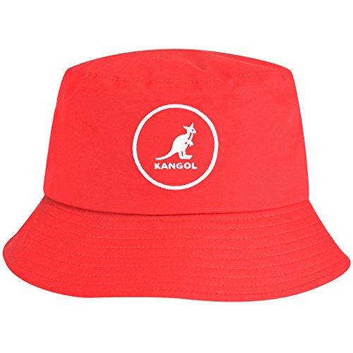 - Kangol Men's Cotton Bucket, Rojo, Large