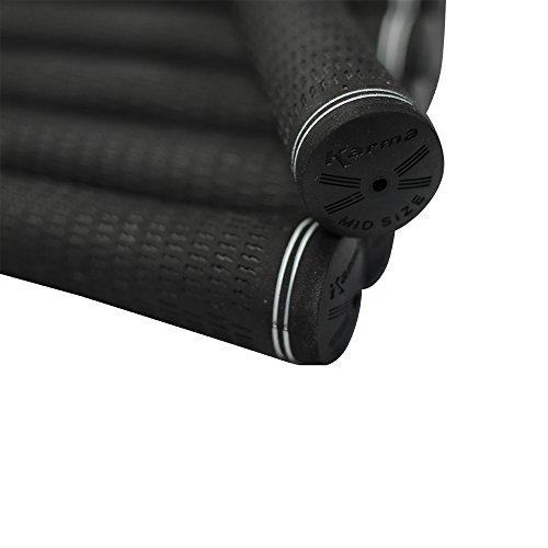 8 Piece Men's Midsize Golf Grips Pro Velvet Karma Black Mid Size Golf Grip Set Pack by Karma (Image #4)