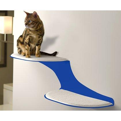 Cat Clouds Cat Shelf - Blue - Left Facing