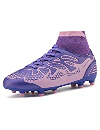 DREAM PAIRS Boys & Girls Toddler/Little Kid/Big Kid Fashion Soccer Football Cleats Shoes