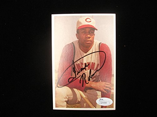 (Frank Robinson Autographed 1982 TCMA #17 Card - JSA - MLB Autographed Baseball Cards)