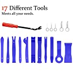 Vetoo 17pcs Car Trim Removal Tool Auto Door Panel Removal Tool Set, CarTrimRemovalKit for Dash Vehicle Audio Radio Removal Installer