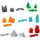 Build3D Replacement Pieces for Settlers of Catan - 6 Empires - Gothic - Viking - Chinese - Roman - Incan - Egyptian - Replacement Catan Pieces for Full 6 Player Set - Gifts for Geeks