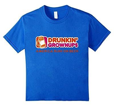 Drunken Grownups American Run On Beer Funny T Shirts